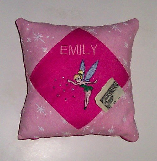 PERSONALIZED TOOTH FAIRY PILLOW - FAIRY DESIGN