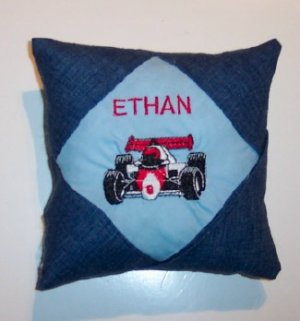 PERSONALIZED tooth fairy pillow - RACECAR!