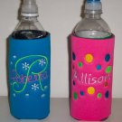 PERSONALIZED Water Bottle Embroidered KOOZIE Cover!