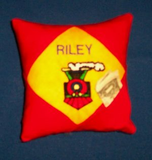 PERSONALIZED Tooth Fairy Pillow - TRAIN design!