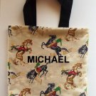 PERSONALIZED  Tote Book Bag - WESTERN HORSES!!!