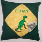 PERSONALIZED Tooth Fairy Pillow with poem - DINOSAUR!!