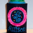 PERSONALIZED Unique Koozie Can Cover with FRINGE Design