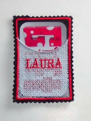 PERSONALIZED Embroidered Lace gift card holder