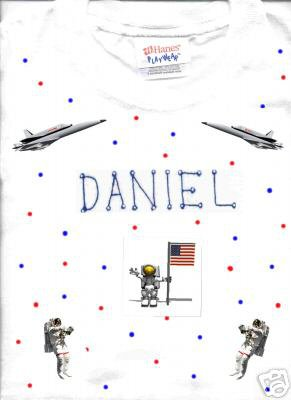 PERSONALIZED TODDLER/YOUTH TEE SHIRT-  ASTRONAUT!