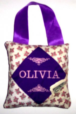PERSONALIZED Tooth Fairy Pillow - Little BUTTERFLIES!!