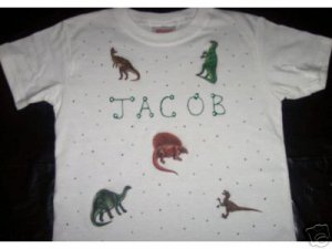 PERSONALIZED TODDLER/YOUTH SHIRT - DINOSAURS!!