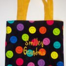 PERSONALIZED Tote Book Bag - Smiley Faces!!!