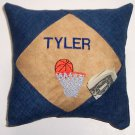 PERSONALIZED Denim Tooth Fairy Pillow  - BASKETBALL