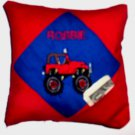 PERSONALIZED TOOTH FAIRY PILLOW BIG WHEEL MONSTER TRUCK