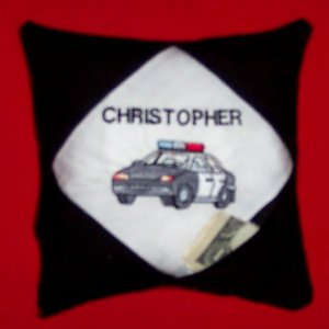 PERSONALIZED Tooth Fairy Pillow & Poem - POLICE!!