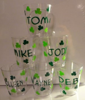 PERSONALIZED Irish Shot Glasses for ST. PATRICK'S DAY!!