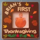 PERSONALIZED Decorated Picture Frame for Baby's Thanksgiving! Design ur own!