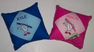 PERSONALIZED EMBROIDERED Tooth Fairy Pillow - ADORABLE!