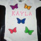 PERSONALIZED ONESIE - COLORFUL BUTTERFLIES!!