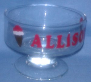 Personalized Ice Cream Dessert Dish - Great Gift!!