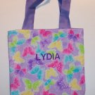 PERSONALIZED Tote Bag SPARKLY PASTEL BUTTERFLIES!!