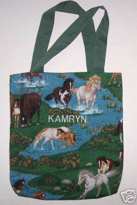 PERSONALIZED TOTE BAG FOR TODDLERS - HORSES!!