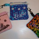 PERSONALIZED Zippered Keychain COIN PURSE - Design your own!