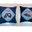PERSONALIZED Denim Tooth Fairy Pillow  - RACE CAR!!