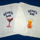 PERSONALIZED Embroidered BAR RAG TOWEL CLOTH