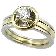 14K Two Tone 1/3ct Diamond Ring - You Save $2451.52
