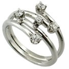 14K White Gold 1/4cttw Diamond Ring - You Save $827.66