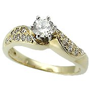 14K Yellow Gold Diamond Engagement Ring - You Save $2,448.99