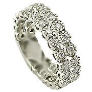 18 Karat White Double Diamond Tennis Band - You Save $1095.03
