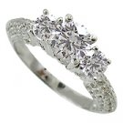18K White Gold Diamond Multi Stone Ring - You Save $5,156.16