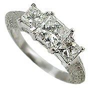 18K White Gold Diamond Multi Stone Ring - You Save $5,608.41