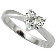 18K White Gold Diamond Solitaire Ring - You Save $1,998.74