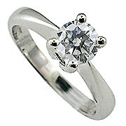 18K White Gold Diamond Solitaire Ring - You Save $8,134.16