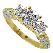 18K Yellow Gold Multi Stone Ring - You Save $4,380.01