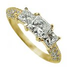 18K Yellow Gold Multi Stone Ring - You Save $3,940