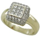 18K Yellow Gold Pave' Ring - You Save $3,220