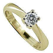 18K Yellow Gold Solitaire Ring - You Save $1,062.50