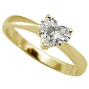 18K Yellow Gold Solitaire Ring - You Save $1,203.27