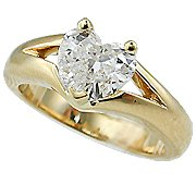 18K Yellow Gold Solitaire Ring - You Save $3,510