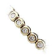 14K Yellow Gold Diamond Tennis Bracelet - You Save $12,832.32