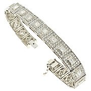 18K White Gold Tennis Bracelet - You Save $27,266.04