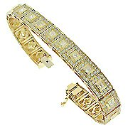 18K Yellow Gold Tennis Bracelet - You Save $27,188.22