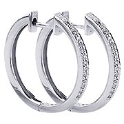 18K White Gold Hoop Earrings - You Save $957.00