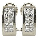 18K White Gold Hoop Earrings - You Save $3,571.09