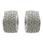 18K White Gold Hoop Earrings - You Save $11,783.51