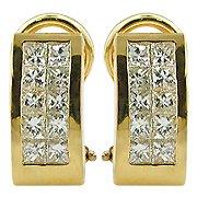 18K Yellow Gold Diamond Hoop Earrings - You Save $2,590.31