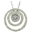 14K White Gold Drop Pendant - You Save $2,278.58