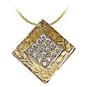 14K Yellow Gold Drop Pendant - You Save $852.33