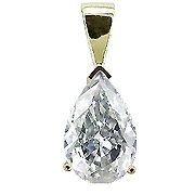 14K Yellow Gold Diamond Solitaire Pendant - You Save $473.50