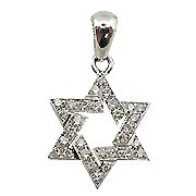 18K White Gold Star of David Diamond Pendant - You Save $1,506.67
